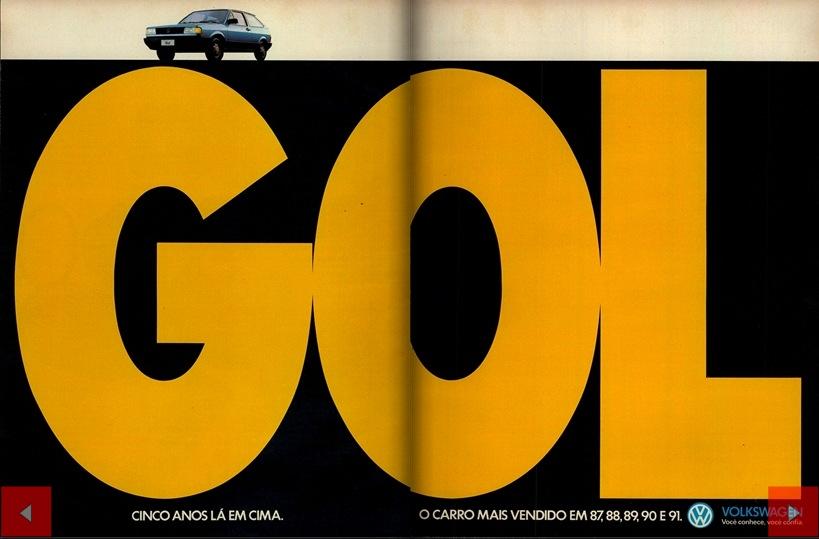 VW Gol mais vendido 1991