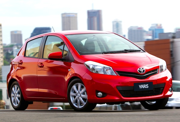 new zealand october 2011 toyota yaris up to 3 updated
