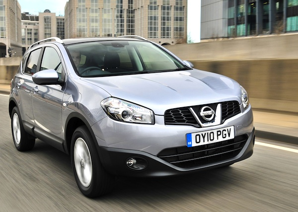 Nissan Qashqai UK October 2013
