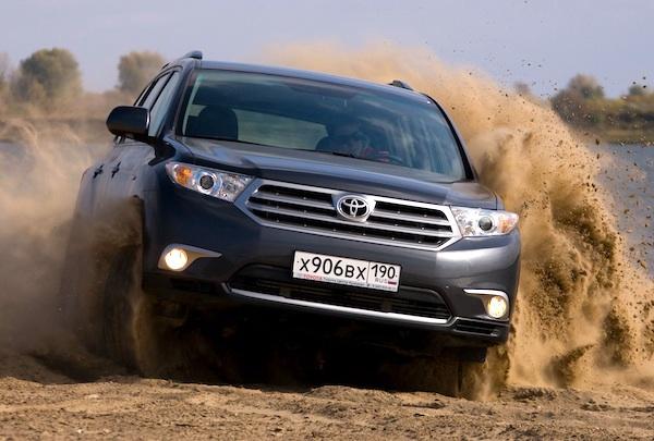 Toyota Highlander Kazakhstan November 2013