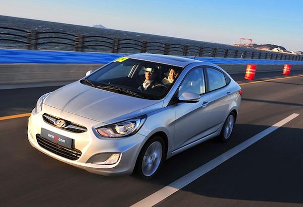 South Korea April 2012 Hyundai Accent At Best Ever 12 Best