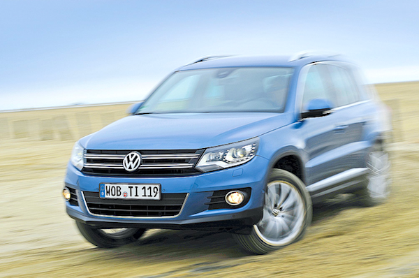 VW Tiguan Germany February 2014. Picture courtesy of autobild.de