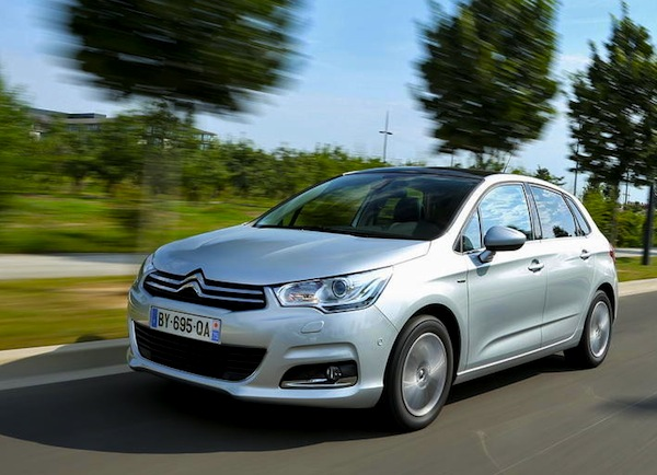 Citroen C4 Croatia November 2013. Picture courtesy of L'Argus