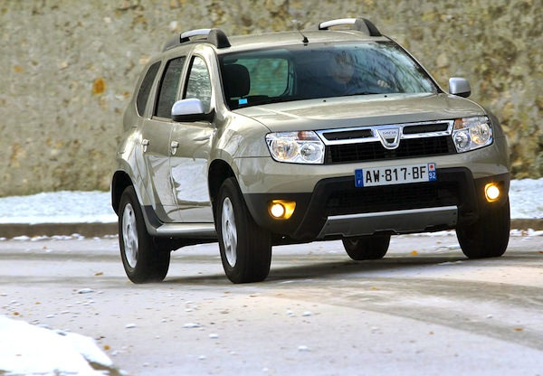 Dacia Duster Iceland November 2012. Picture courtesy of L'Argus