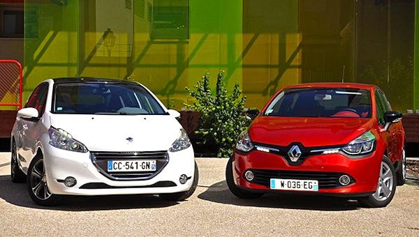 france 1 19 nov 2012 peugeot 208 renault clio 4 the duel begins best selling cars blog. Black Bedroom Furniture Sets. Home Design Ideas