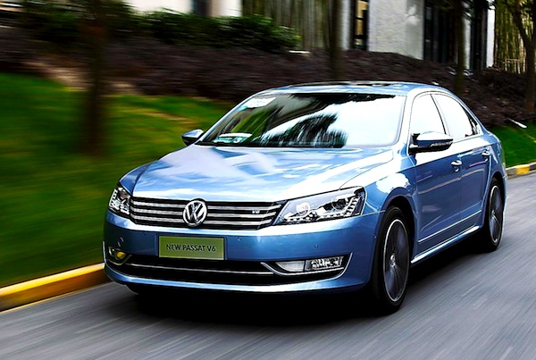 VW Passat China October 2012. Picture courtesy of bitauto.com