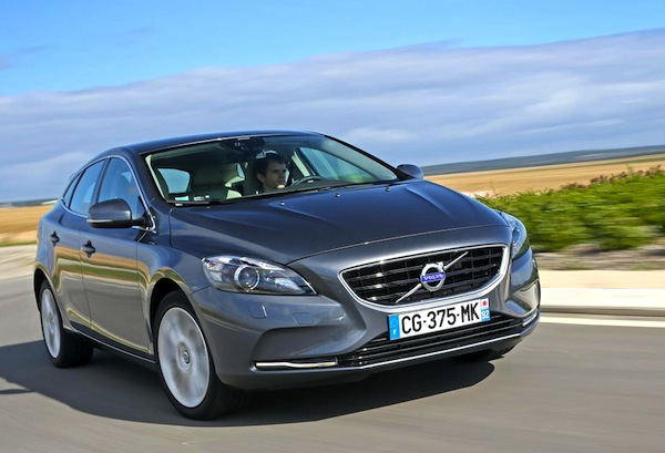 Volvo V40 Sweden Full Year 2013. Picture courtesy of largus.fr