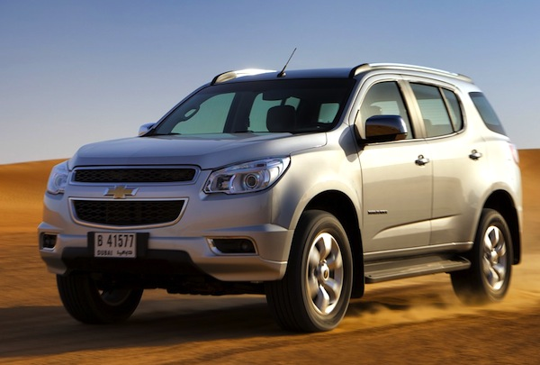 Chevrolet Trailblazer Saudi Arabia November 2012