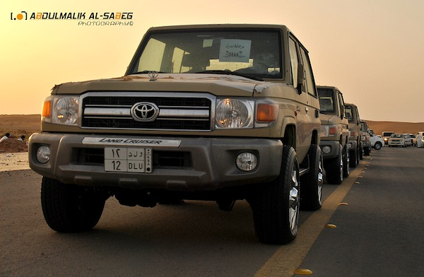 Toyota Land Cruiser UAE November 2012. Picture courtesy of Abdulmalik Al Sabeg via Flickr