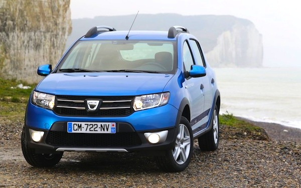 Dacia Sandero France June 2014. Picture courtesy of auto-mag.com