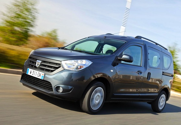 Dacia Dokker Romania March 2014. Picture courtesy of L'Argus