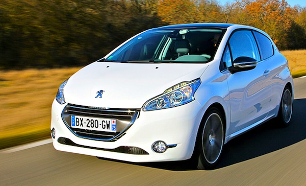 Peugeot 208 Switzerland January 2013. Picture courtesy of Top Gear