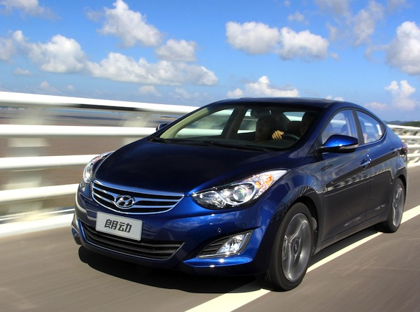 Hyundai Elantra. Picture courtesy of www.auto.sina.com.cn