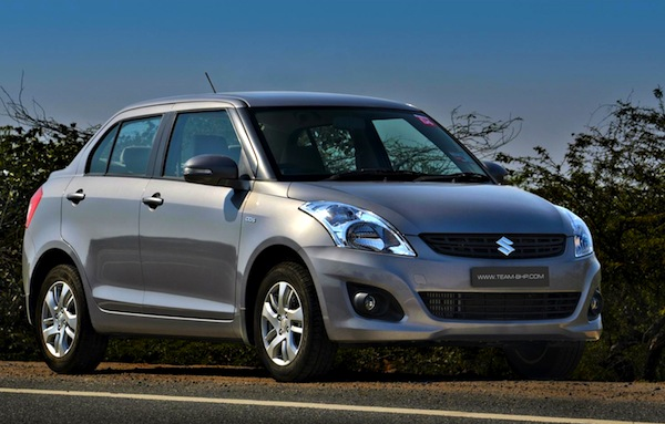 Maruti Suzuki Swift DZire. Picture courtesy of Team BHP