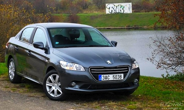 czech rep february 2013: skoda rapid #3, peugeot 301 in top20