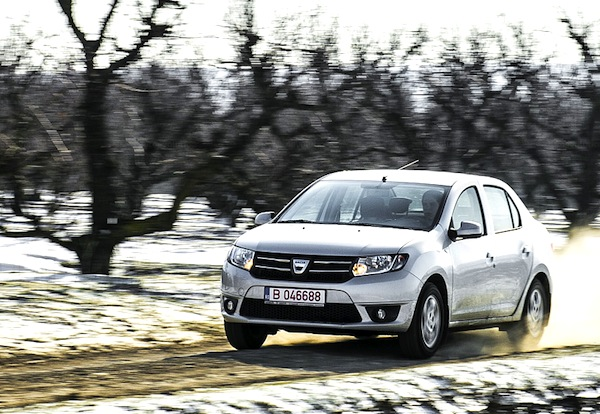Dacia Logan Romania July 2013. Picture courtesy of autoevolution.com