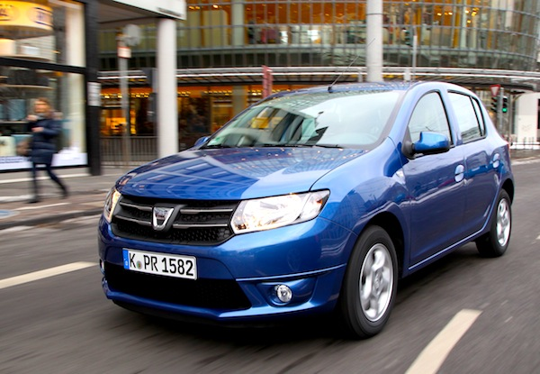 Dacia Sandero Germany 2014. Picture courtesy of autozeitung.de