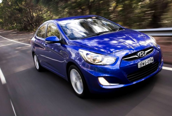 Hyundai Accent Ukraine March 2013. Picture courtesy of themotorreport.com.au