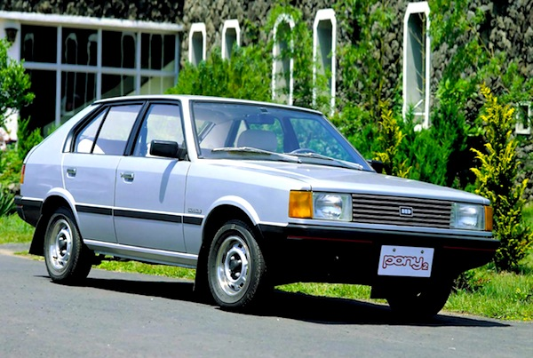 Hyundai Pony 1985. Picture courtesy of www.autowp.ru