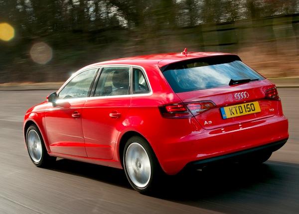 Audi A3 UK April 2013