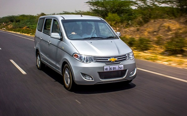 Chevrolet Enjoy India April 2013. Picture courtesy of Gaadi