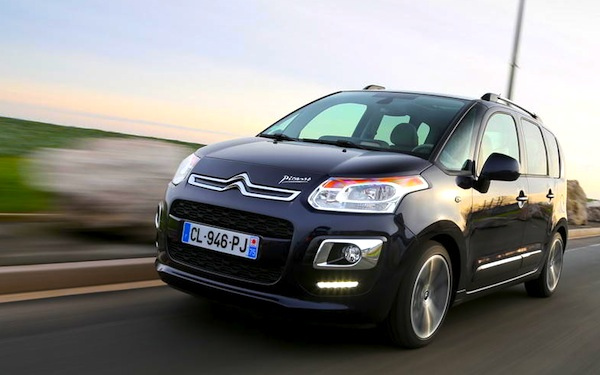 Citroen C3 Picasso France May 2013. Picture courtesy of www.largus.fr