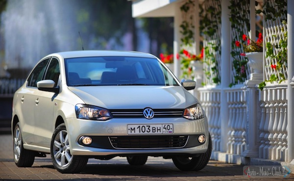 VW Polo Ukraine April 2013. Picture by road2.ru
