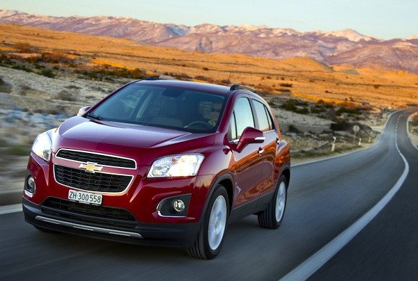 Chevrolet Trax Czech Republic July 2013. Picture courtesy of largus.fr