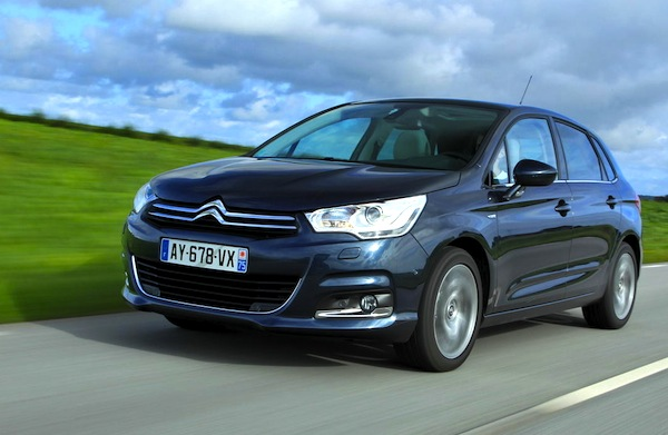 Citroen C4 Croatia February 2014. Picture courtesy of L'Argus
