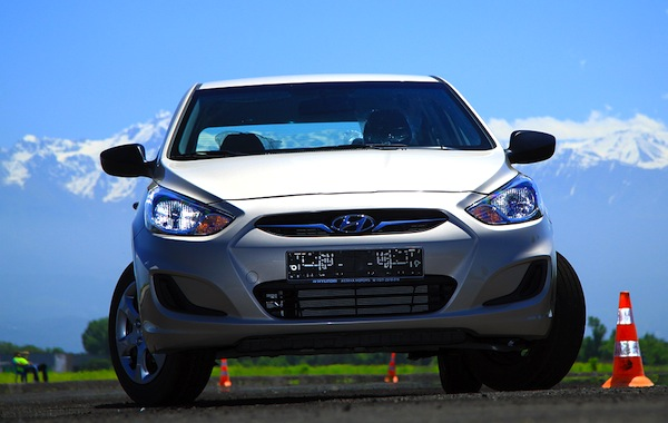 Hyundai Accent Kazakhstan May 2013. Picture courtesy of idrive.kz