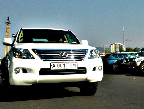 Lexus LX Kazakhstan May 2013. Picture courtesy of platesmania.com