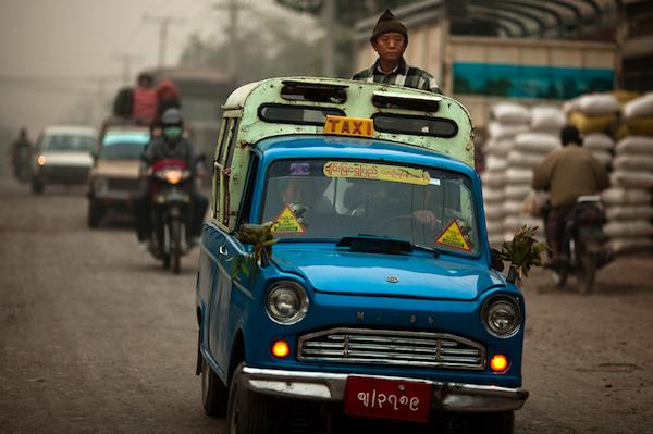 Mazda B360 taxi in Mandalay, Myanmar