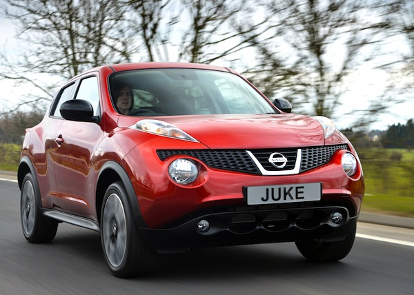 Nissan Juke UK July 2013