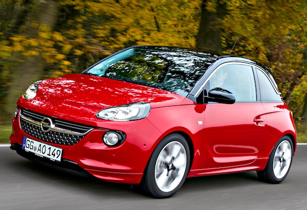 Opel Adam 2013. Picture courtesy of autozeitung.de