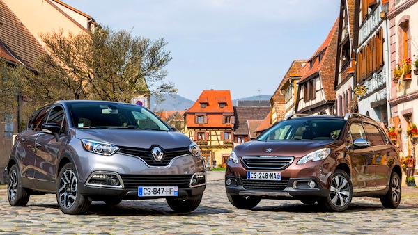 Renault Captur Peugeot 2008. Picture courtesy of Largus.fr