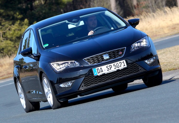 Seat Leon Switzerland May 2013. Picture courtesy of autozeitung.de