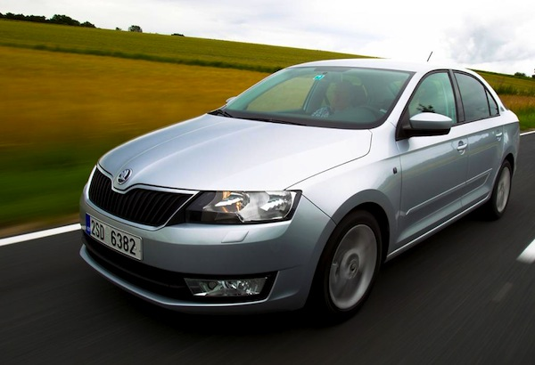Skoda Rapid Israel May 2013