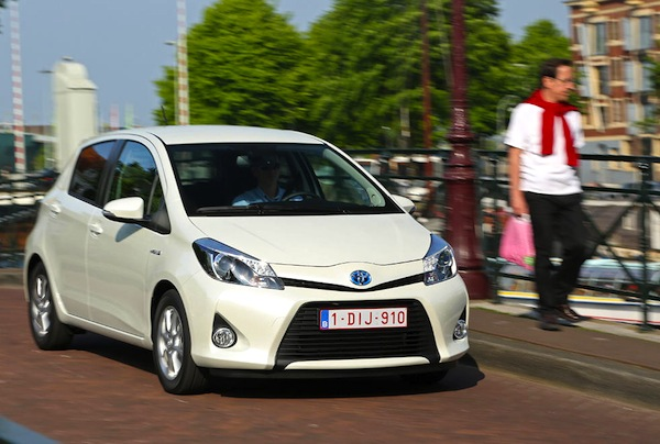 Toyota Yaris Hybrid France July 2014