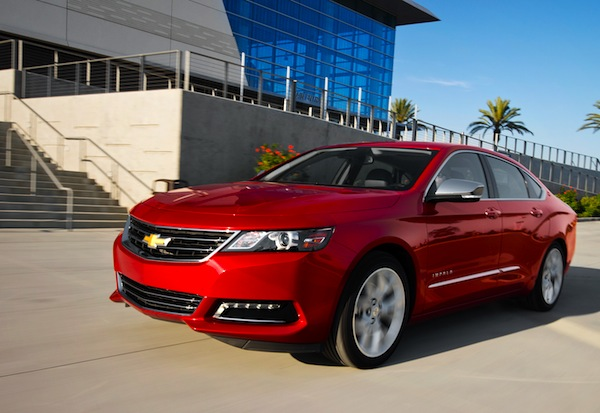 Chevrolet Impala USA September 2014. Picture courtesy of Motor Trend
