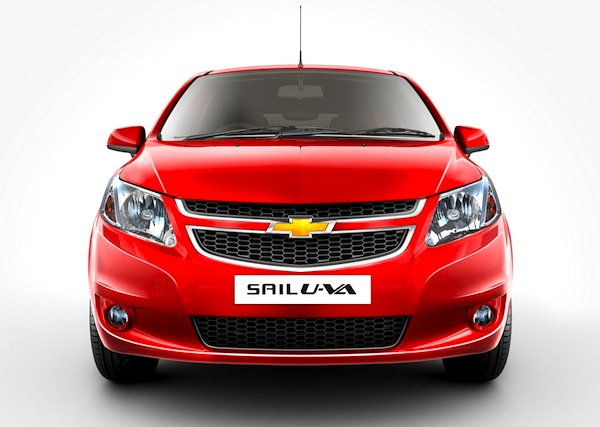 Chevrolet Sail Colombia June 2013. Picture courtesy of autoportal.com