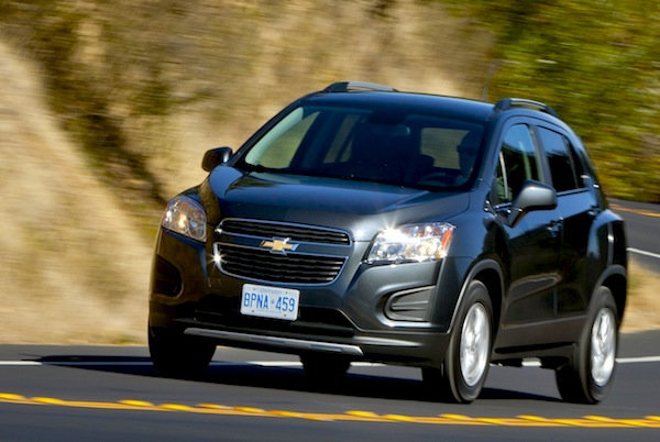 Chevrolet Tracker Colombia June 2013. Picture courtesy of caradvice.com.au