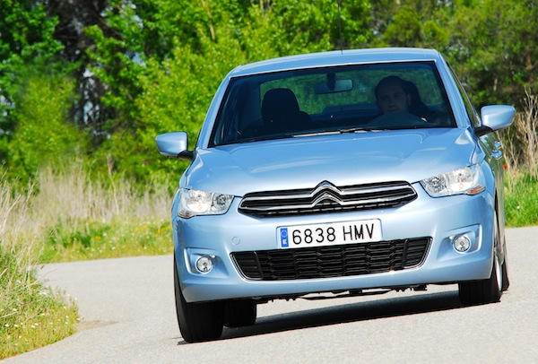 Citroen C-Elysee Portugal June 2013. Picture courtesy of cochaldia.com