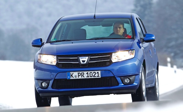 Dacia Sandero Germany 2013. Picture courtesy of Auto Motor und Sport