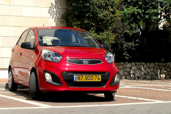 Kia Picanto Israel June 2013. Picture courtesy of carsforum.co.il