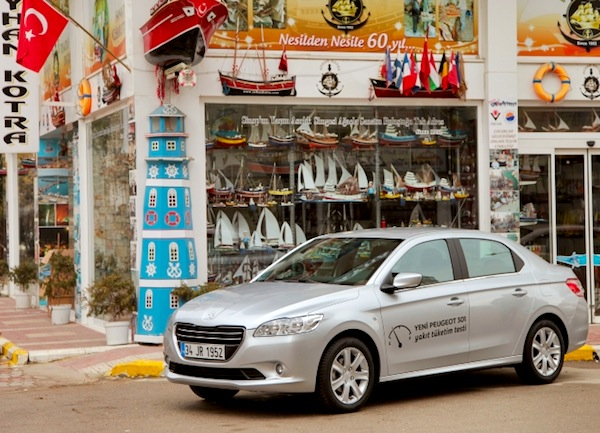 Peugeot 301 Turkey June 2013. Picture courtesy of www.ototeknoloji.com