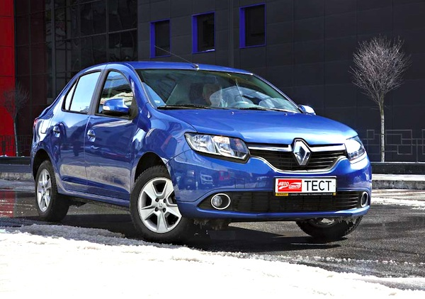 Renault Logan Ukraine June 2013. Picture courtesy of autocentre.ua