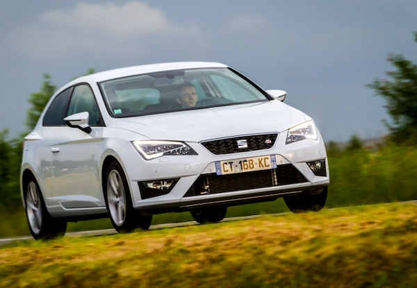 Seat Leon Finland January 2014. Picture courtesy of largus.fr