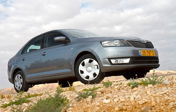 Skoda Rapid Israel June 2013. Picture courtesy of allmag.co.il