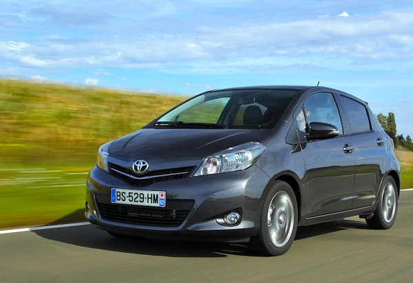 Toyota Yaris Croatia November 2013. Picture courtesy of L'Argus