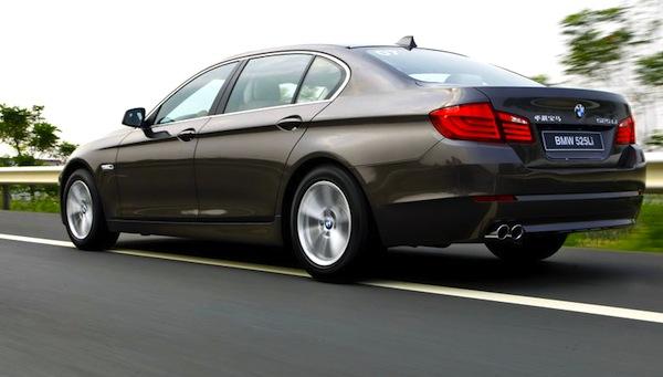 BMW 5 Series L China July 2013